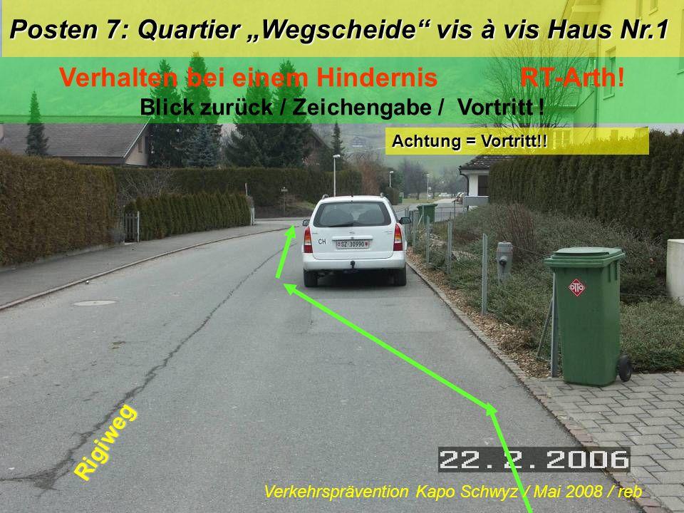 """Posten 7: Quartier """"Wegscheide vis à vis Haus Nr.1"""