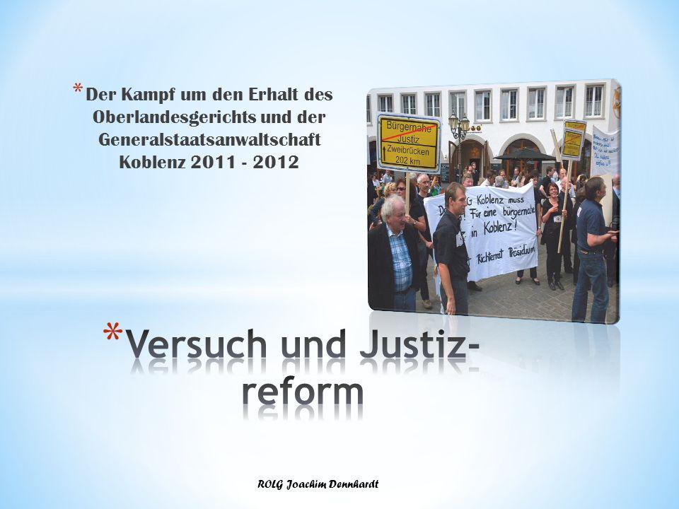 Versuch und Justiz-reform