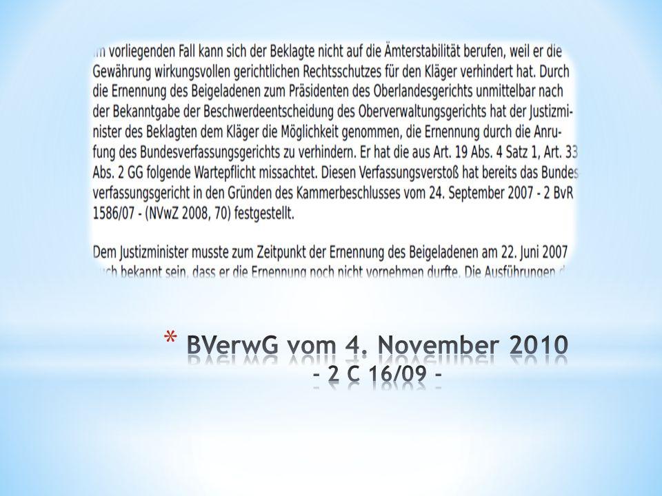BVerwG vom 4. November 2010 - 2 C 16/09 -