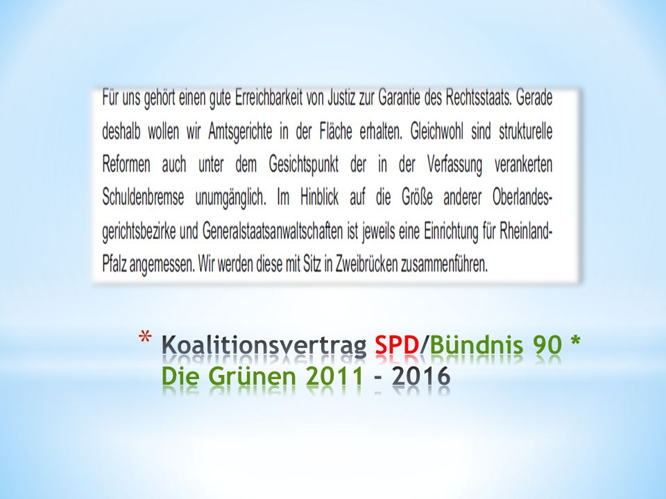 Koalitionsvertrag SPD/Bündnis 90 * Die Grünen 2011 - 2016
