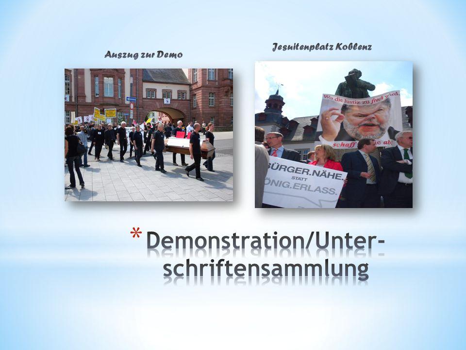 Demonstration/Unter-schriftensammlung