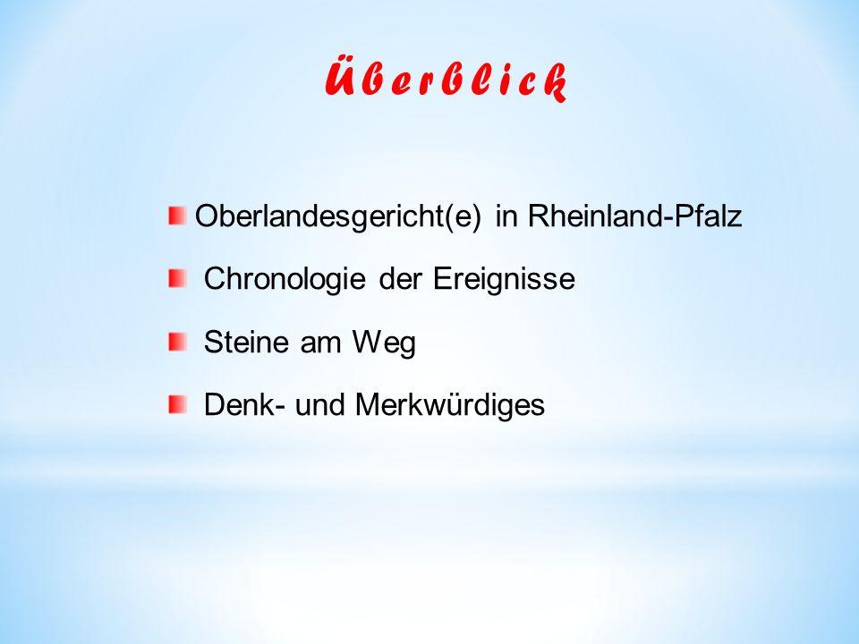 Überblick Oberlandesgericht(e) in Rheinland-Pfalz
