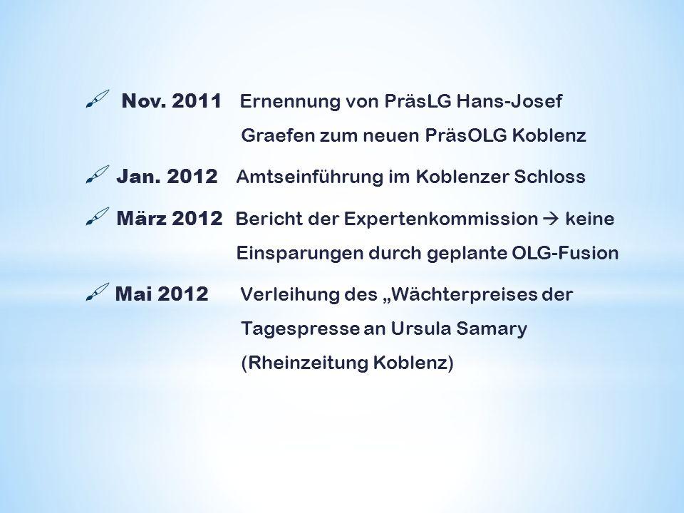 Nov. 2011 Ernennung von PräsLG Hans-Josef