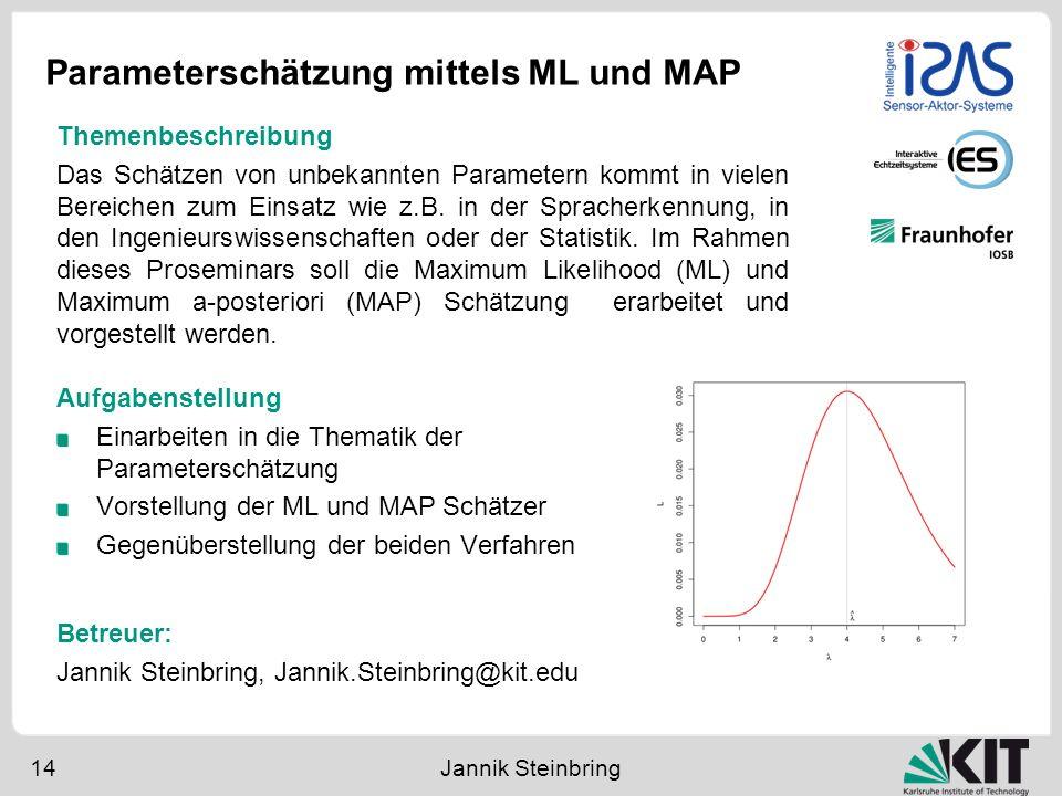 Parameterschätzung mittels ML und MAP