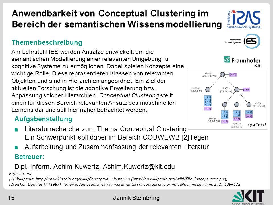 Anwendbarkeit von Conceptual Clustering im Bereich der semantischen Wissensmodellierung