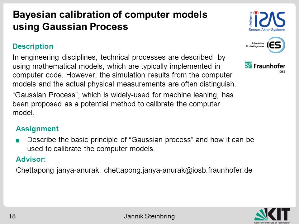 Bayesian calibration of computer models using Gaussian Process