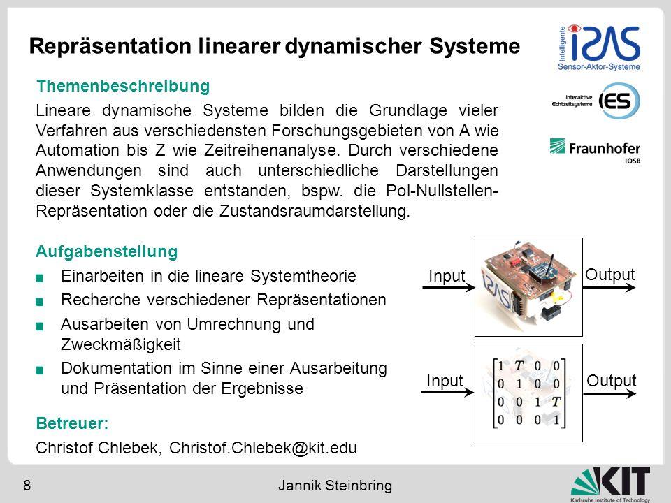 Repräsentation linearer dynamischer Systeme