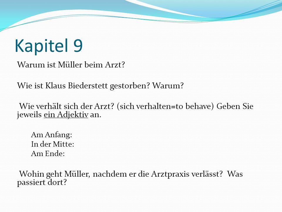 Kapitel 9 Warum ist Müller beim Arzt