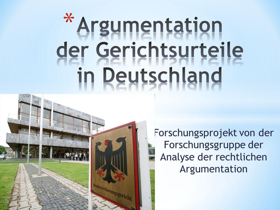 Argumentation der Gerichtsurteile in Deutschland