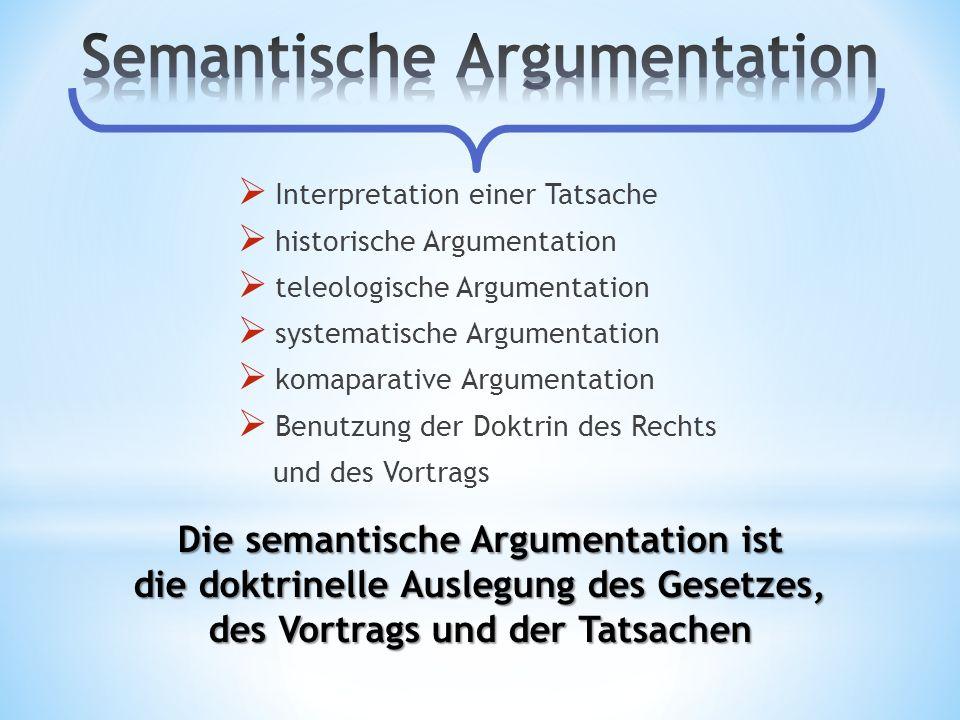 Semantische Argumentation