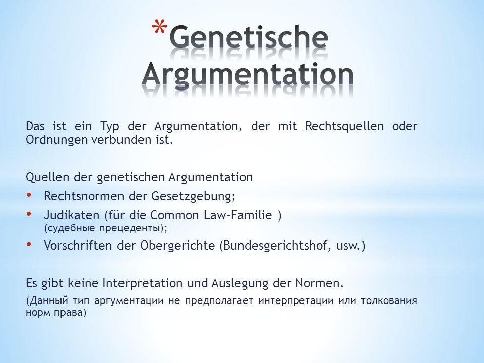 Genetische Argumentation