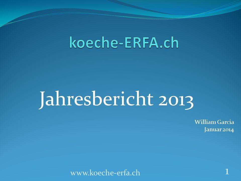 Jahresbericht 2013 koeche-ERFA.ch www.koeche-erfa.ch William Garcia