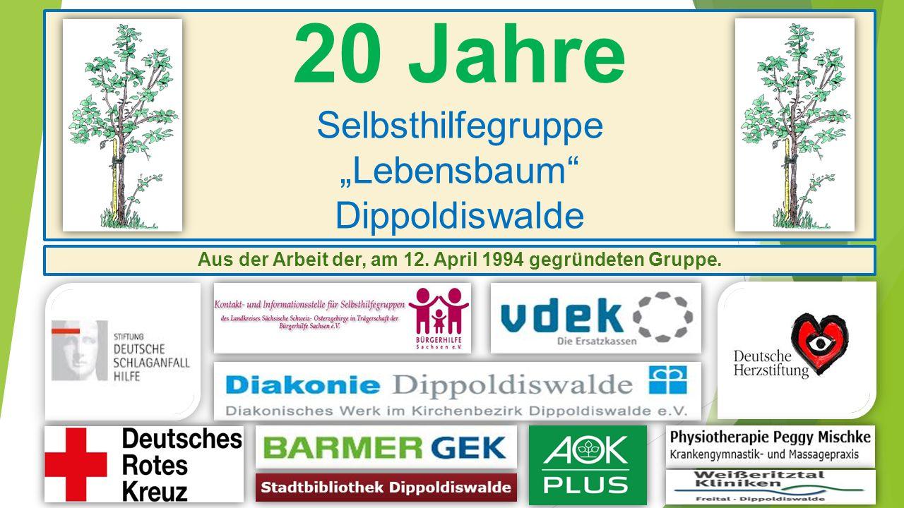 "20 Jahre Selbsthilfegruppe ""Lebensbaum Dippoldiswalde"