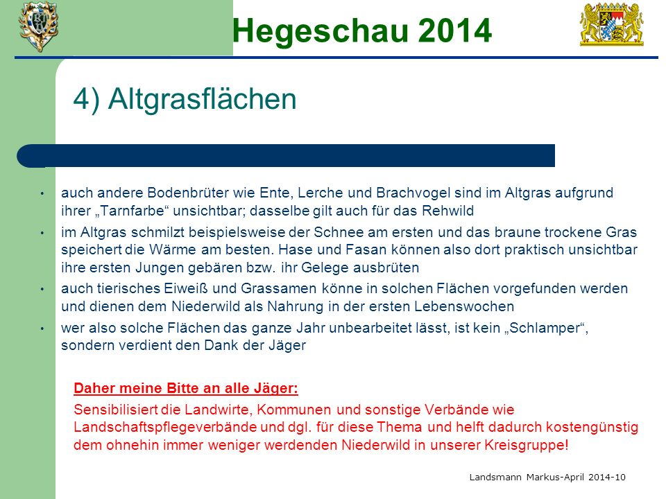 Hegeschau 2014 4) Altgrasflächen