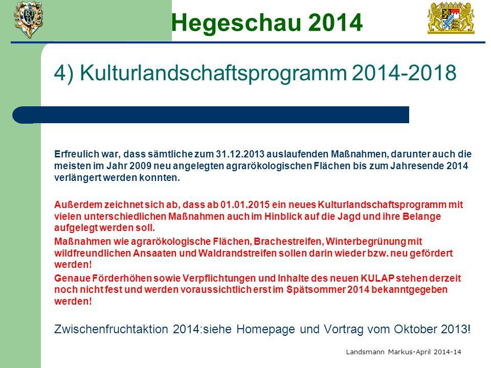 Hegeschau 2014 4) Kulturlandschaftsprogramm 2014-2018