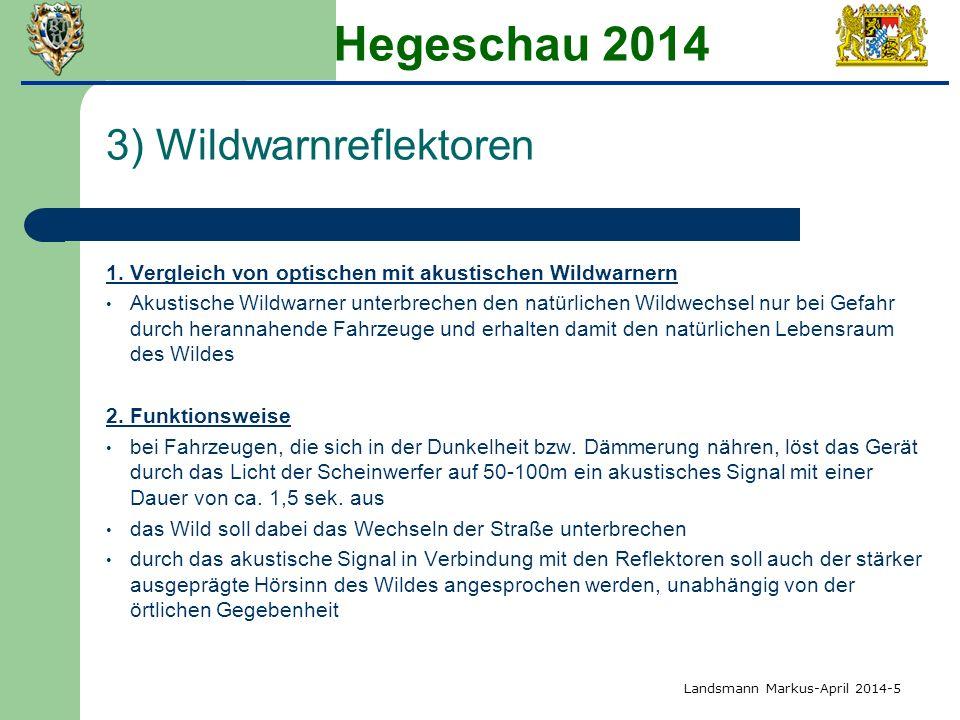 Hegeschau 2014 3) Wildwarnreflektoren