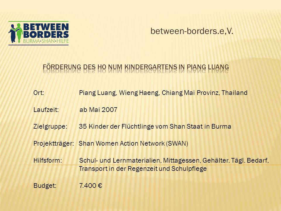 Förderung des Ho Num Kindergartens in Piang Luang