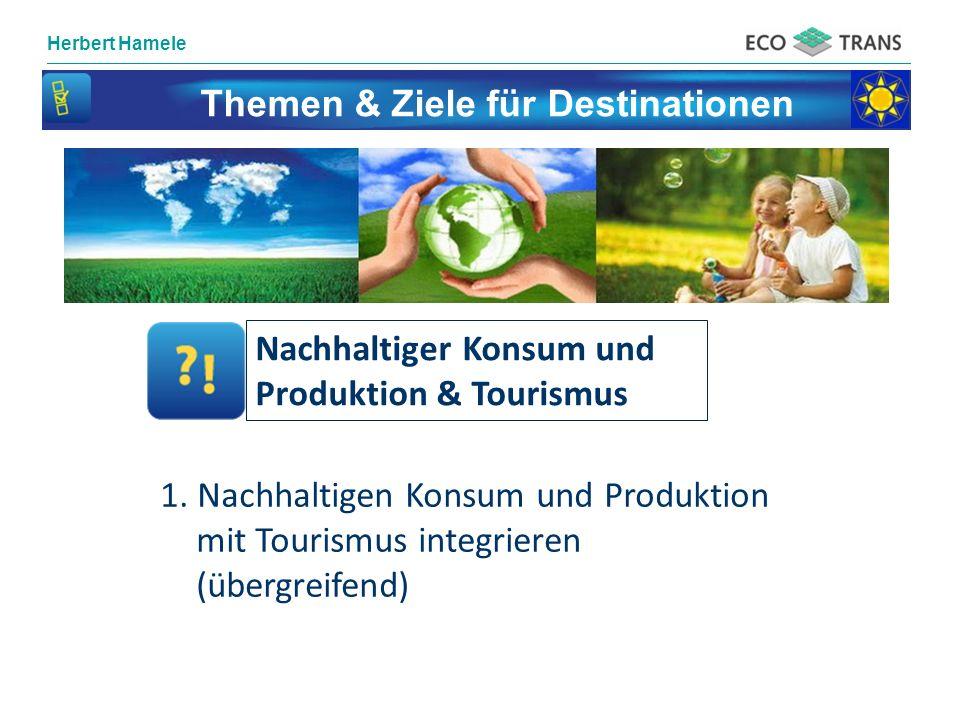 Themen & Ziele für Destinationen