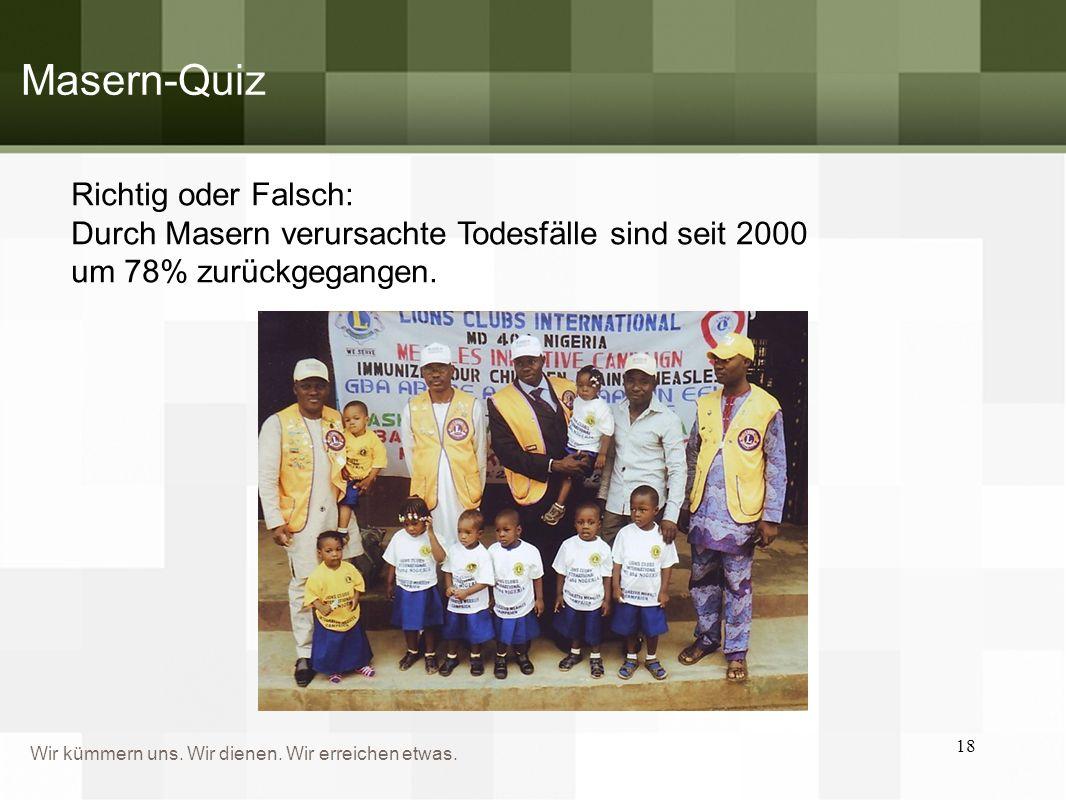 Masern-Quiz Richtig oder Falsch: