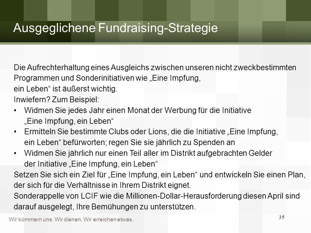 Ausgeglichene Fundraising-Strategie