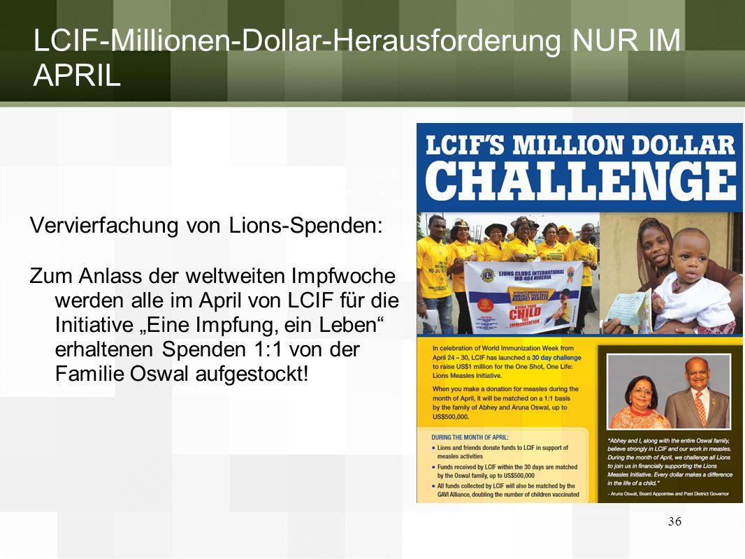 LCIF-Millionen-Dollar-Herausforderung NUR IM APRIL