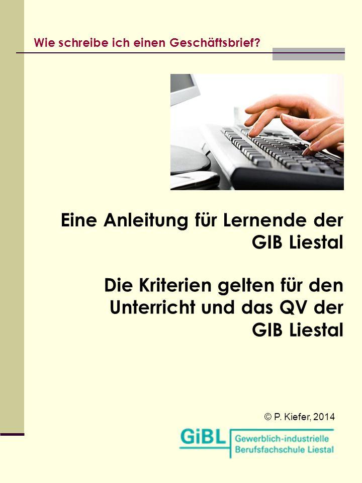 Eine Anleitung für Lernende der GIB Liestal