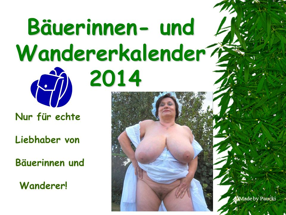 Bäuerinnen- und Wandererkalender 2014