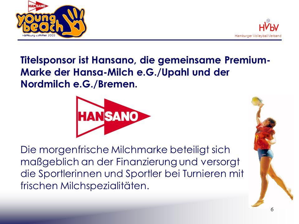 Titelsponsor ist Hansano, die gemeinsame Premium-Marke der Hansa-Milch e.G./Upahl und der Nordmilch e.G./Bremen.