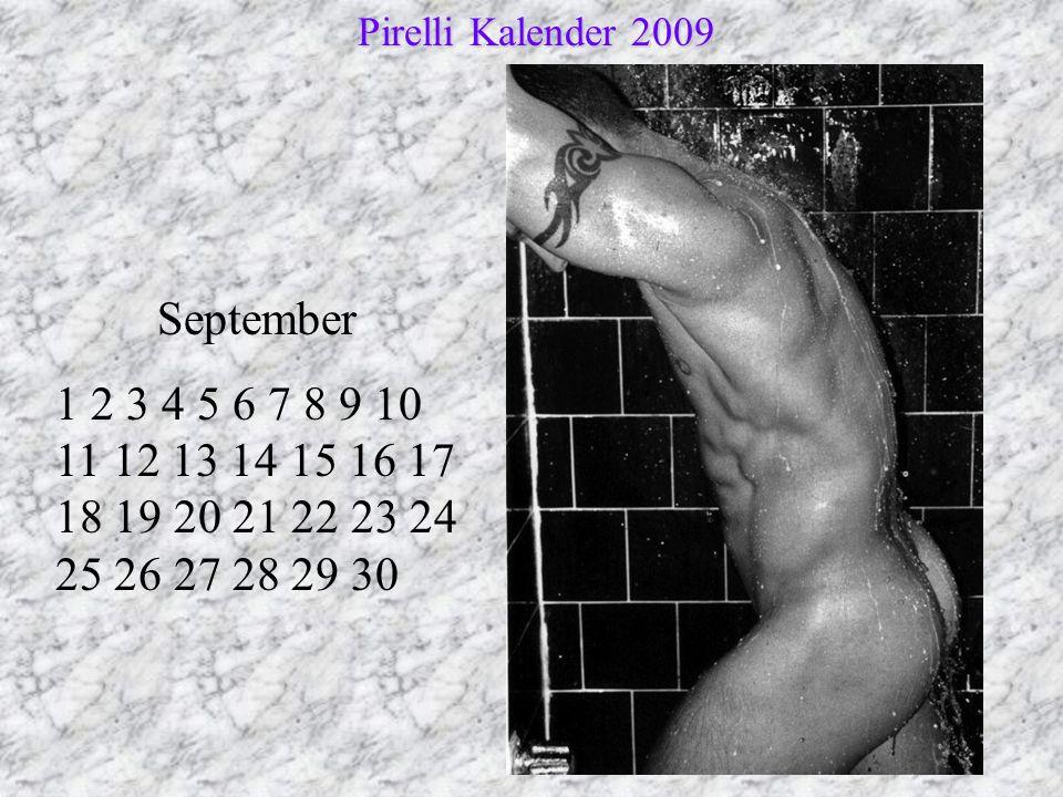 Pirelli Kalender 2009 September.
