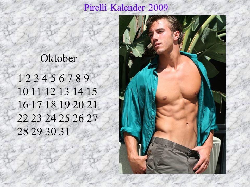 Pirelli Kalender 2009 Oktober.