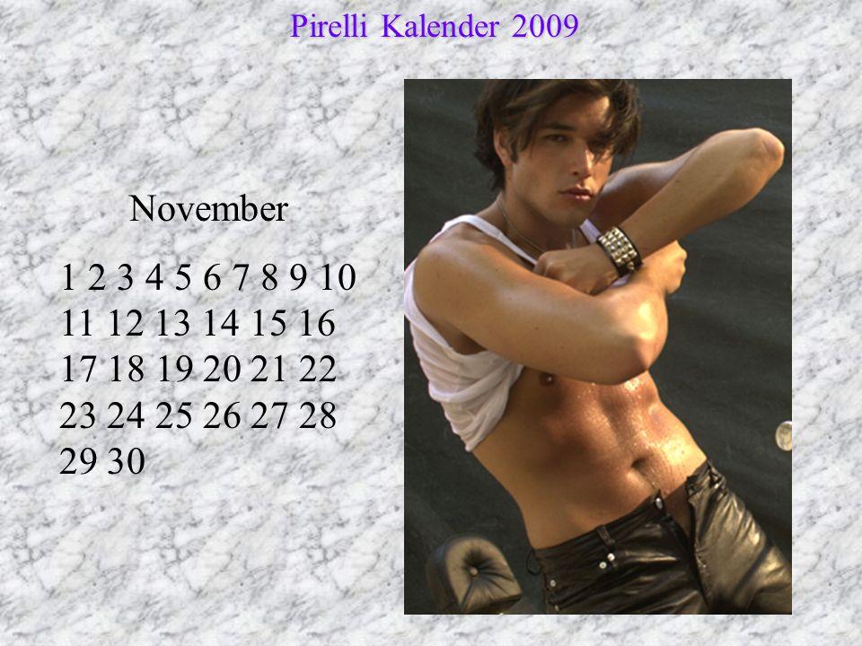 Pirelli Kalender 2009 November.