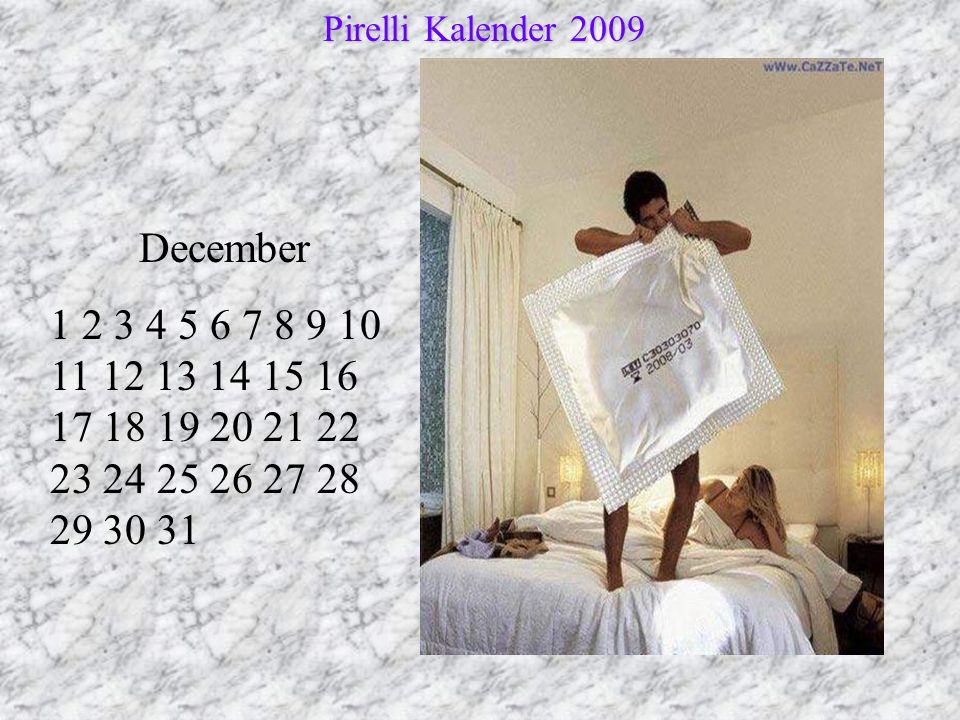 Pirelli Kalender 2009 December.