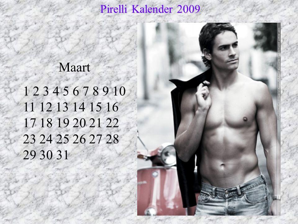 Pirelli Kalender 2009 Maart.