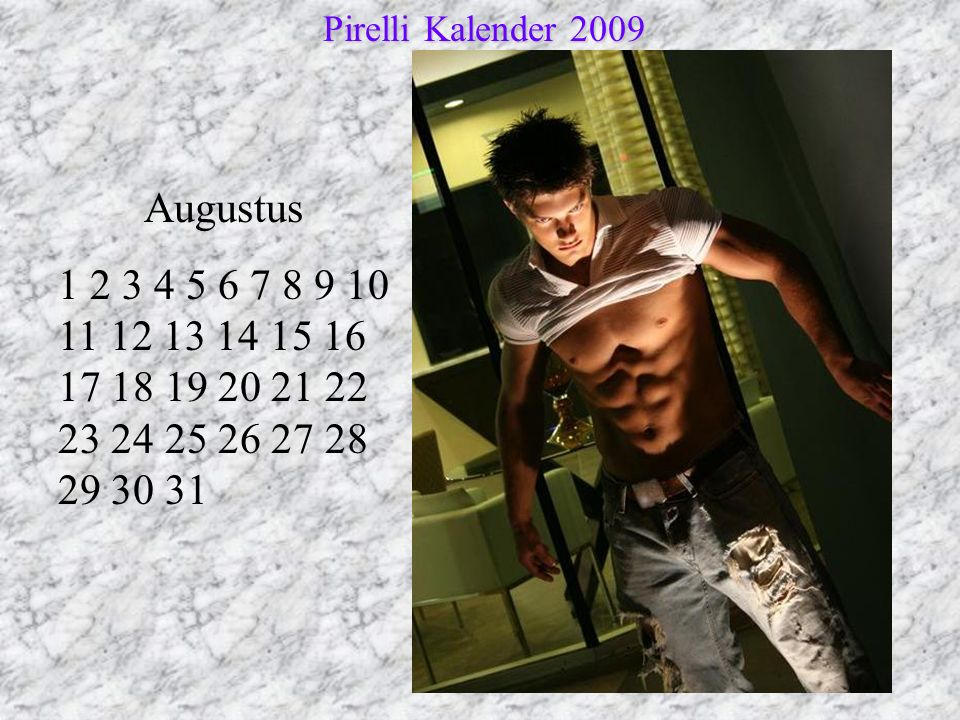 Pirelli Kalender 2009 Augustus.