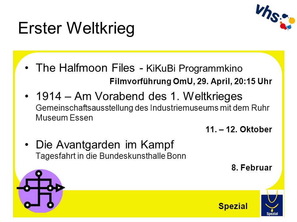 Erster Weltkrieg The Halfmoon Files - KiKuBi Programmkino