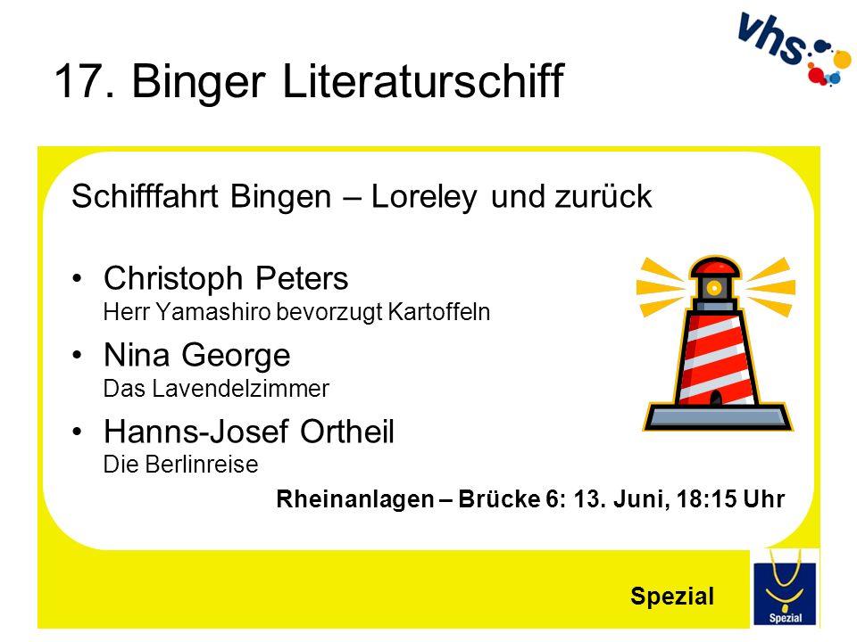 17. Binger Literaturschiff