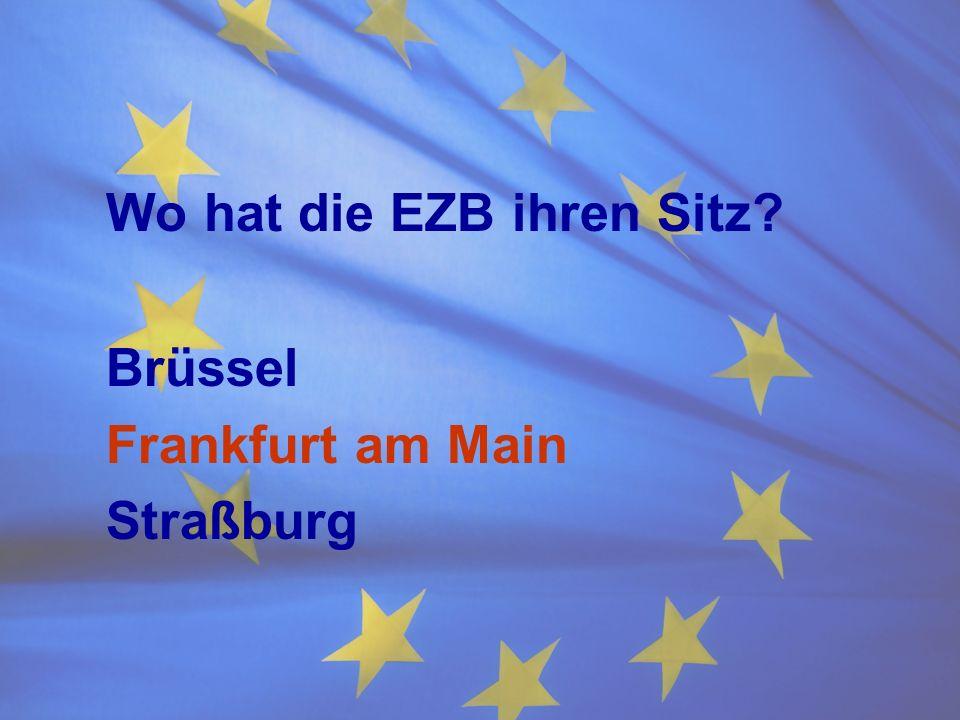 Wo hat die EZB ihren Sitz