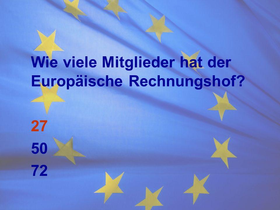 Wie viele Mitglieder hat der Europäische Rechnungshof