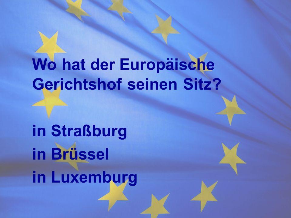 Wo hat der Europäische Gerichtshof seinen Sitz