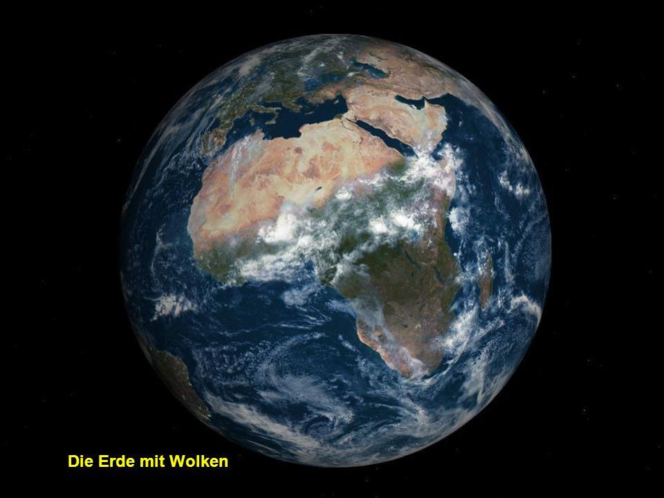 Die Erde mit Wolken