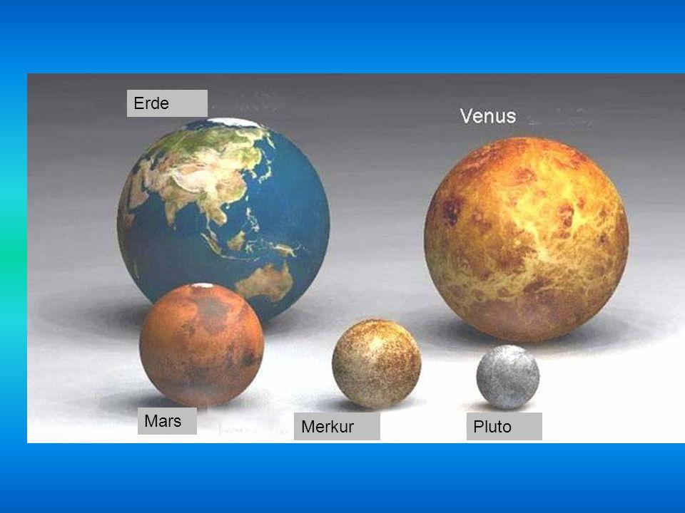 Erde Mars Merkur Pluto