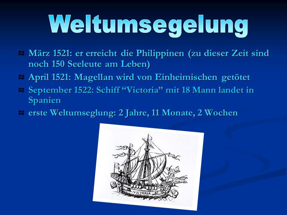 April 1521: Magellan wird von Einheimischen getötet