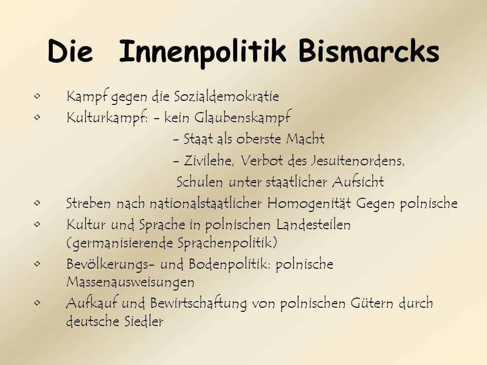 Die Innenpolitik Bismarcks