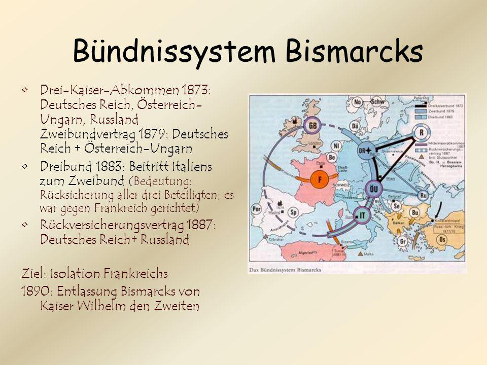 Bündnissystem Bismarcks