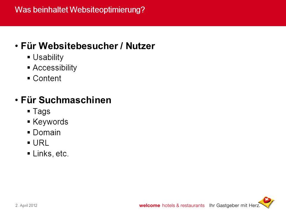 Was beinhaltet Websiteoptimierung