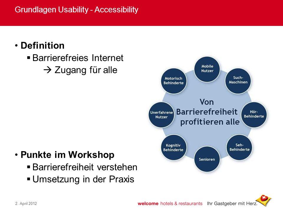 Grundlagen Usability - Accessibility