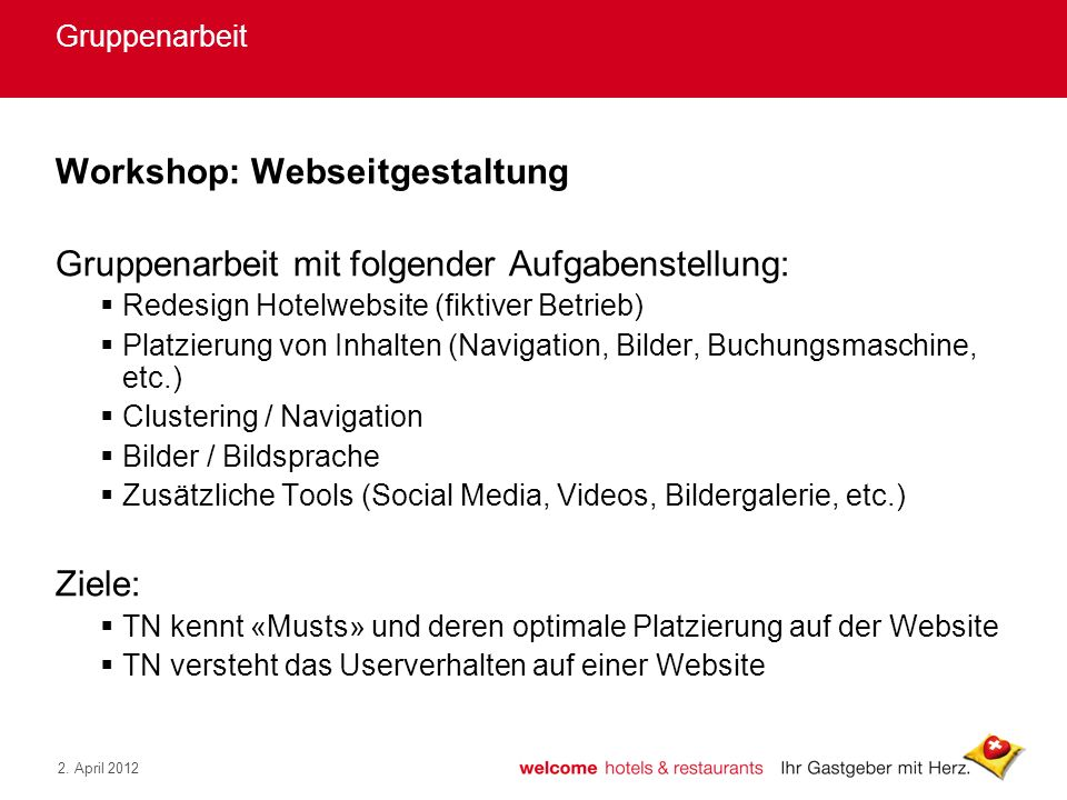 Workshop: Webseitgestaltung