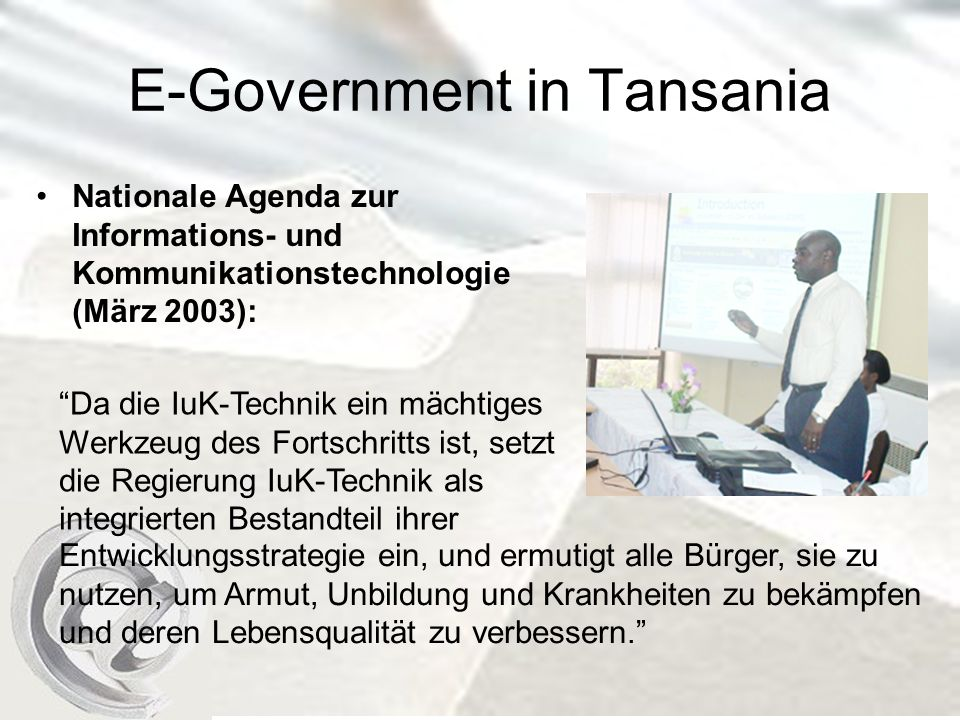 E-Government in Tansania