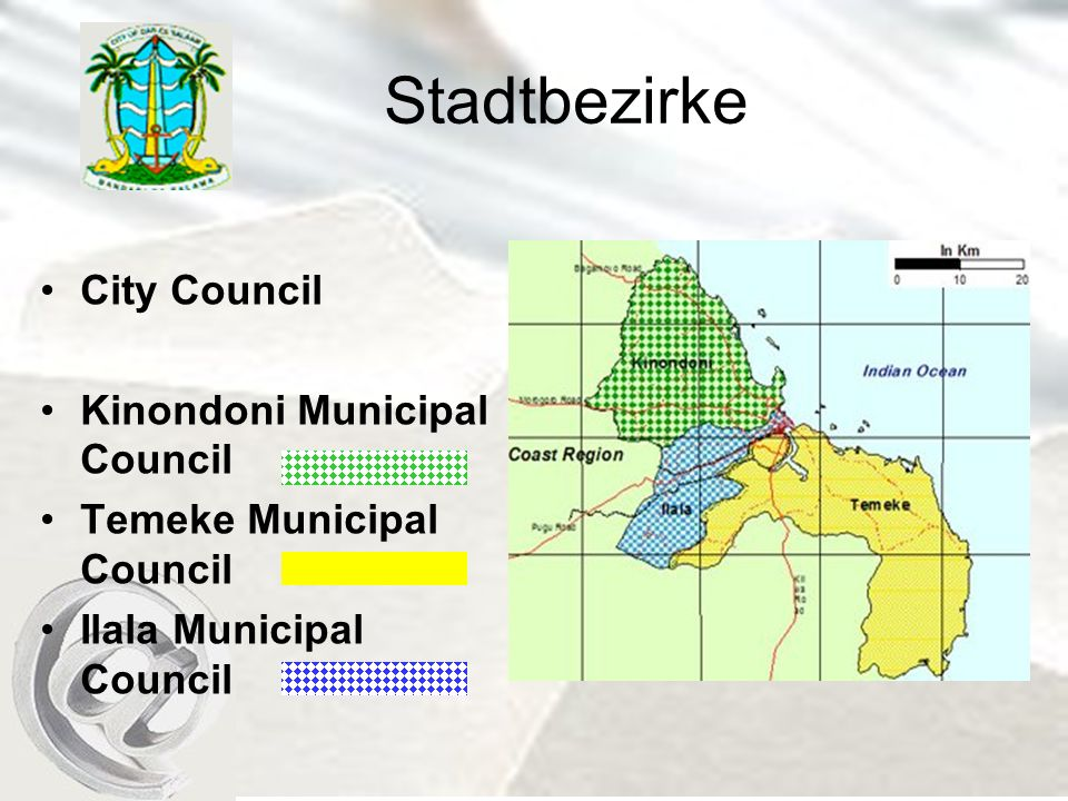 Stadtbezirke City Council Kinondoni Municipal Council