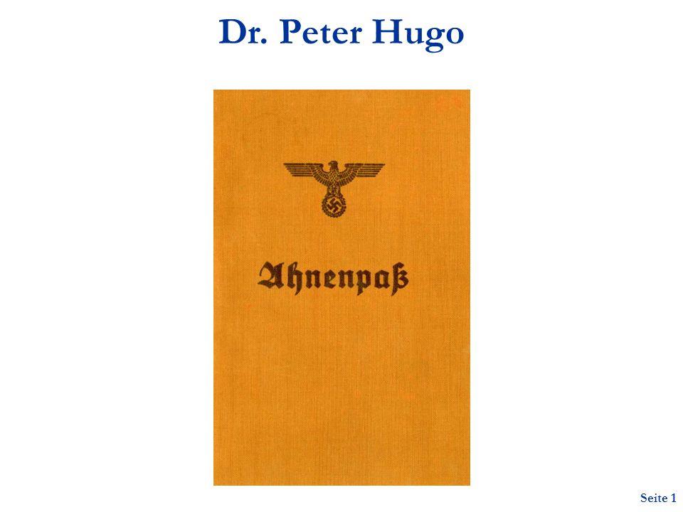 Dr. Peter Hugo